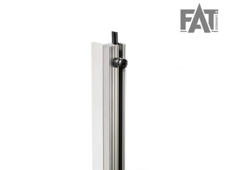 Rackschiene Aluminium stufenlos mit Gummikeder | 1 m Zuschnitt