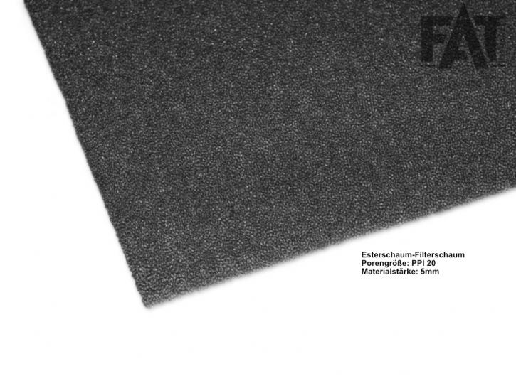 Akustikschaum S30P30R tiefschwarz 12 mm / 2020mm x 1030 mm / PPI30