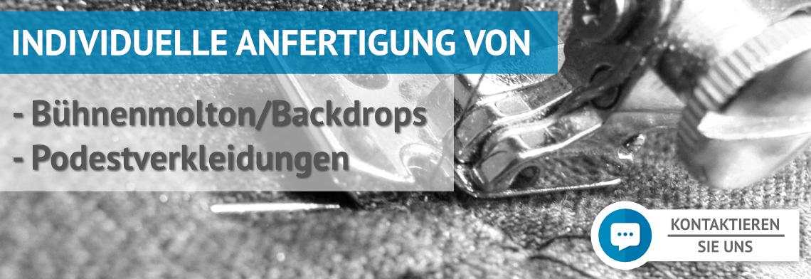 Individuelle Anfertigung von Backdrops/Bühnenvorhängen und Podestverkleidungen!