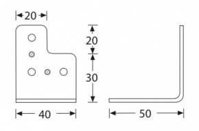L-Ecke 40 x 50 verzinkt