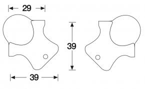 Kugelecke klein dreischenklig 3-Loch
