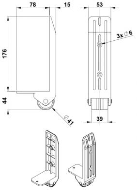 Kantenaufbaurolle 40 mm