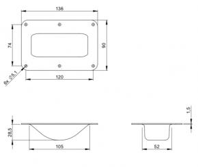 Stapel-Einbauschale Stahl verzinkt