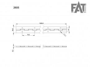 Klavierband Stahl 1830 x 38 mm vorgebohrt