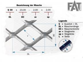 Lautsprechergitter Q10 x 8 - 1 x 1 mm (
